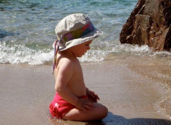 bébé plage